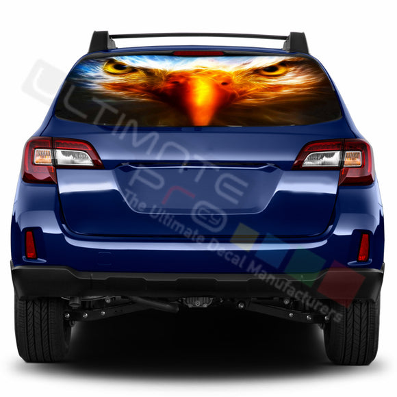Eagle Perforated Decals stickers compatible with Subaru Outback