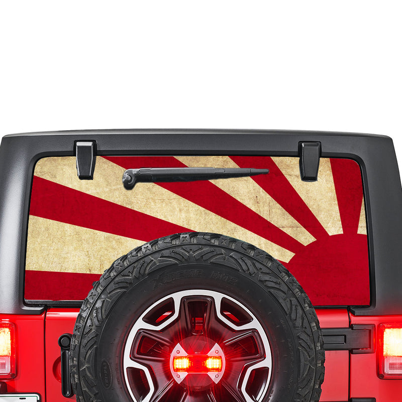 Japan Sun Perforated for Jeep Wrangler JL, JK decal 2007 - Present