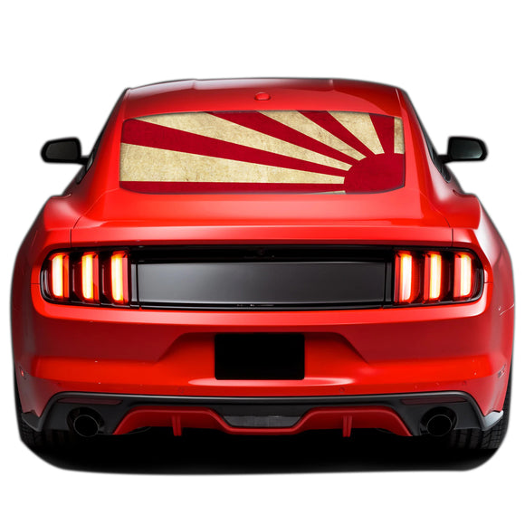 Japan Sun Perforated Sticker for Ford Mustang decal 2015 - Present
