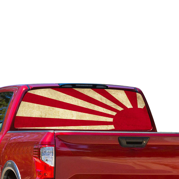 Japan sun Perforated for Nissan Titan decal 2012 - Present