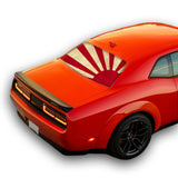 Japan Sun Perforated for Dodge Challenger decal 2008 - Present