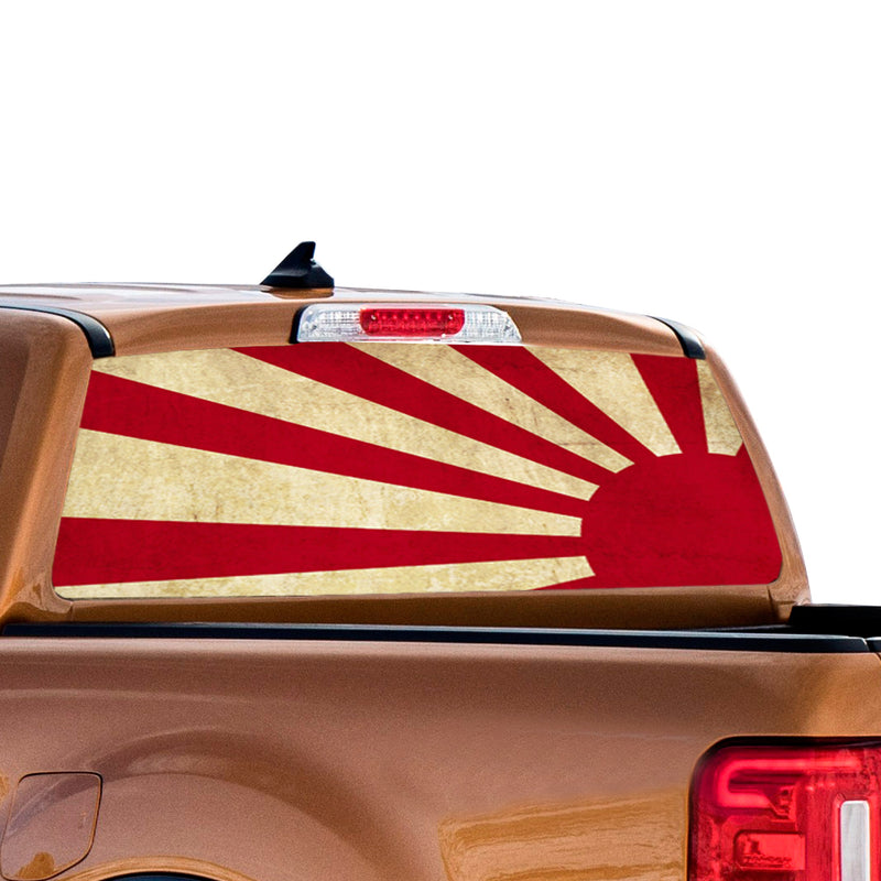 Japan Sun Perforated for Ford Ranger decal 2010 - Present