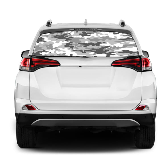 Army Rear Window Perforated for Toyota RAV4 decal 2013 - Present