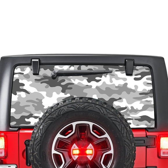 White Army Perforated for Jeep Wrangler JL, JK decal 2007 - Present