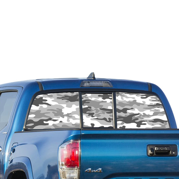 White Army Perforated for Toyota Tacoma decal 2009 - Present