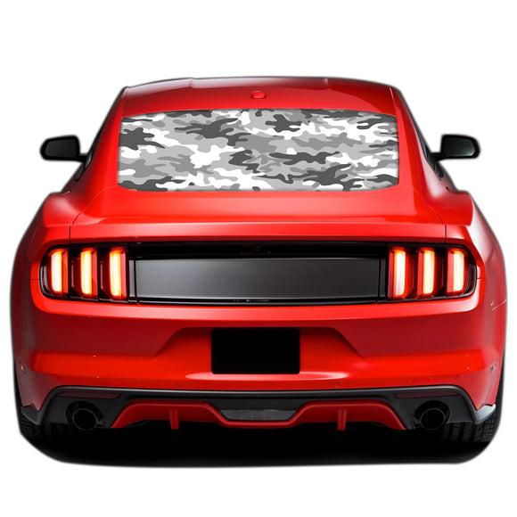 Army Perforated Sticker for Ford Mustang decal 2015 - Present