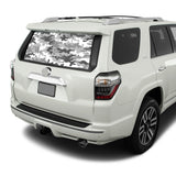 White Army Perforated for Toyota 4Runner decal 2009 - Present