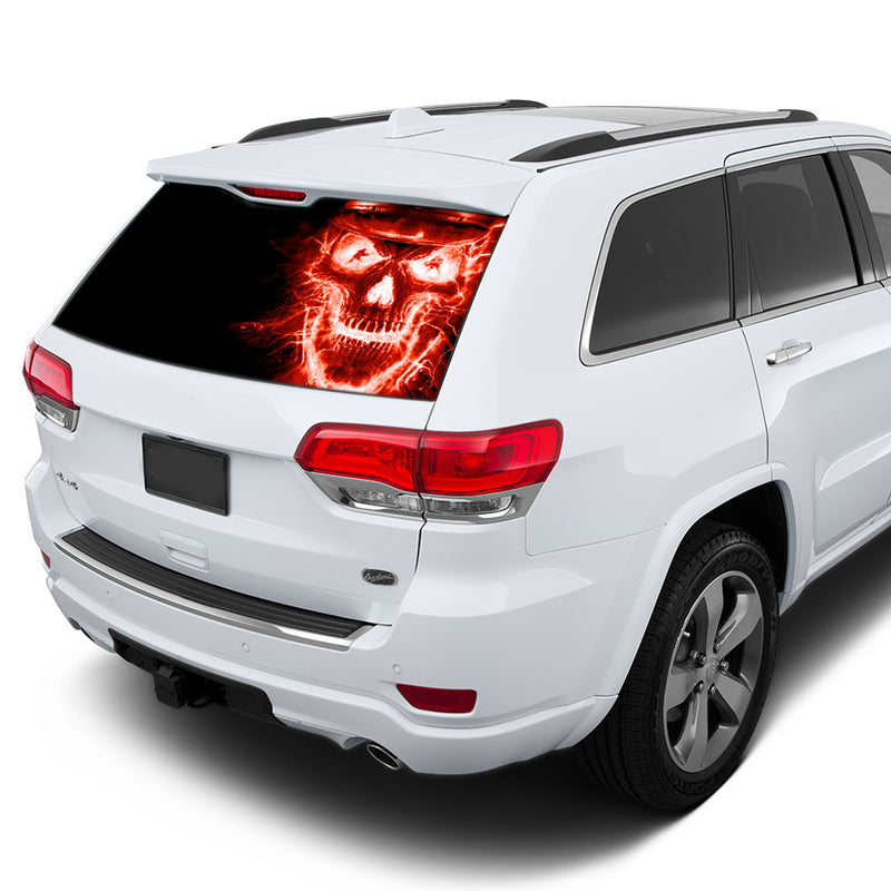 Red Skull Perforated for Jeep Grand Cherokee decal 2011 - Present