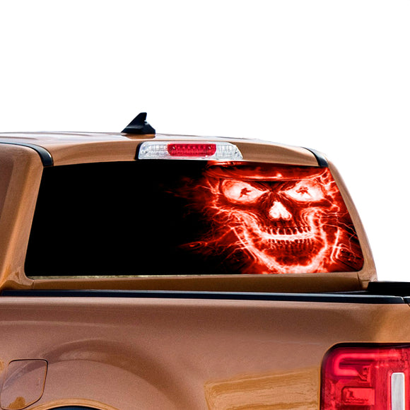 Red Skull Perforated for Ford Ranger decal 2010 - Present