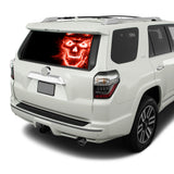 Red Skull Perforated for Toyota 4Runner decal 2009 - Present