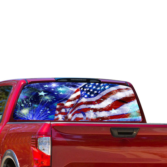 USA Stars Perforated for Nissan Titan decal 2012 - Present