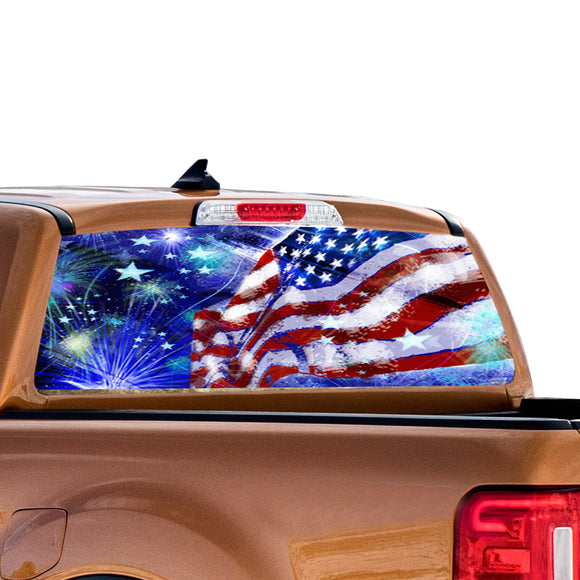 USA Stars Perforated for Ford Ranger decal 2010 - Present