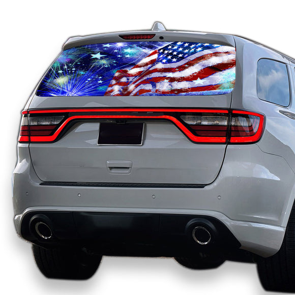 USA Stars Perforated for Dodge Durango decal 2012 - Present