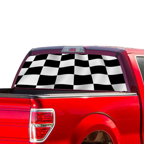 Finishing Flag Perforated for Ford F150 Decal 2015 - Present