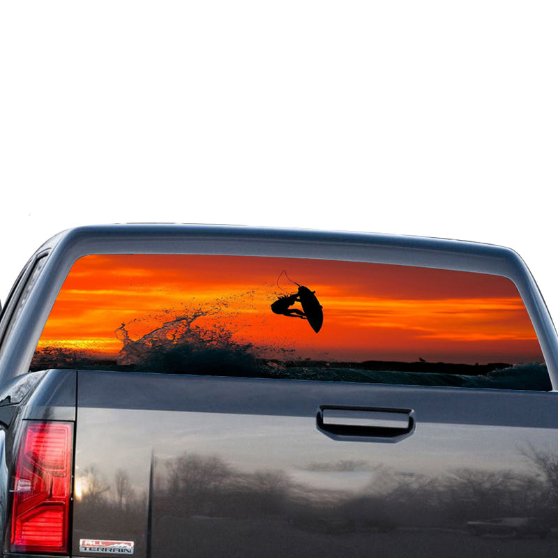 Surfing Perforated for GMC Sierra decal 2014 - Present