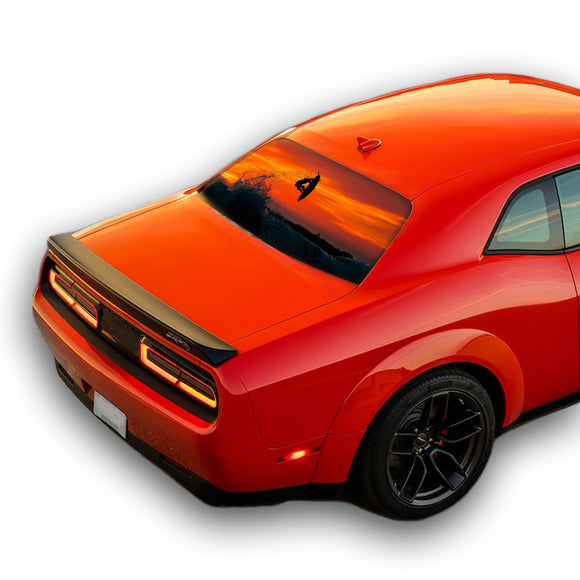 Surfing Perforated for Dodge Challenger decal 2008 - Present