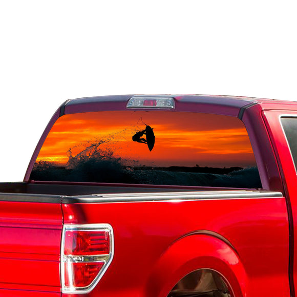 Surfing Perforated for Ford F150 Decal 2015 - Present