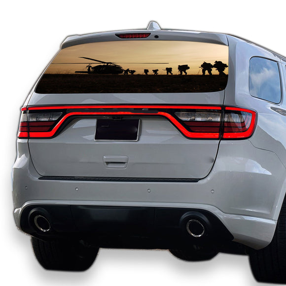 Army Helicopter Perforated for Dodge Durango decal 2012 - Present