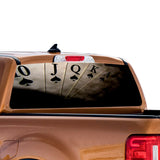 Play Cards Perforated for Ford Ranger decal 2010 - Present