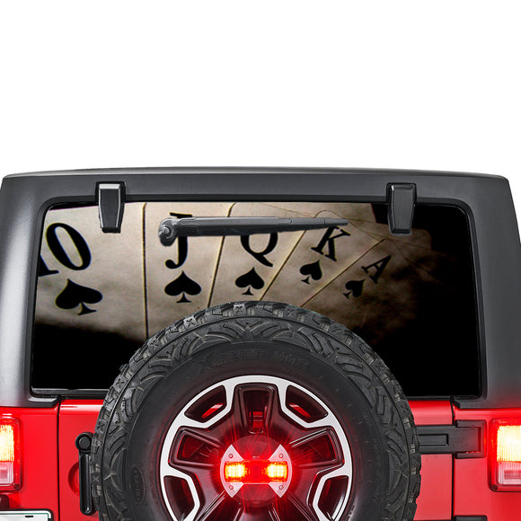 Play Cards Perforated for Jeep Wrangler JL, JK decal 2007 - Present