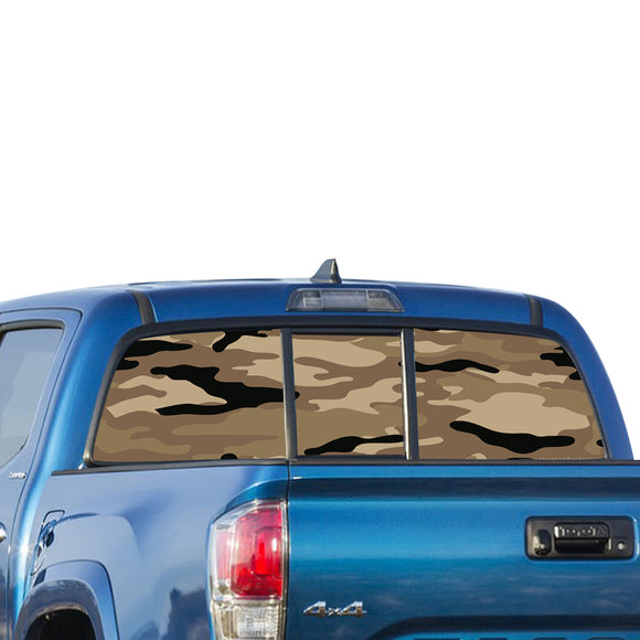 Army Camo Perforated for Toyota Tacoma decal 2009 - Present