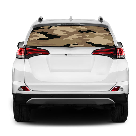 Army 1 Rear Window Perforated for Toyota RAV4 decal 2013 - Present