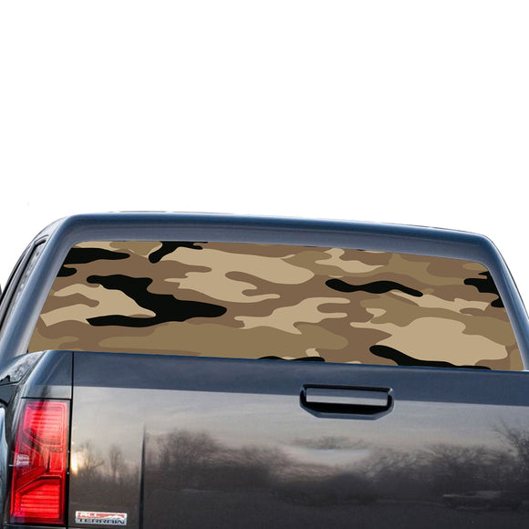 Camo Perforated for GMC Sierra decal 2014 - Present