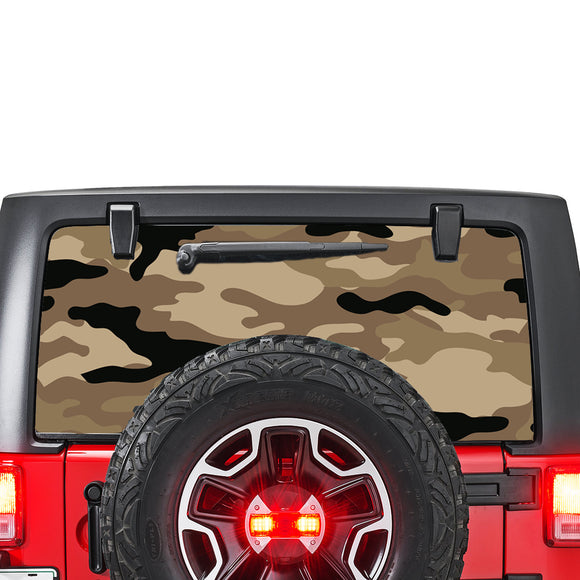 Brown Army Perforated for Jeep Wrangler JL, JK decal 2007 - Present