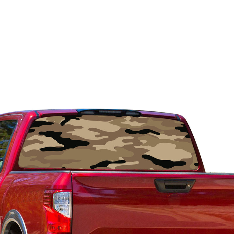 Army Perforated for Nissan Titan decal 2012 - Present