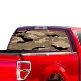 Brown Camouflash Perforated for Ford F150 Decal 2015 - Present