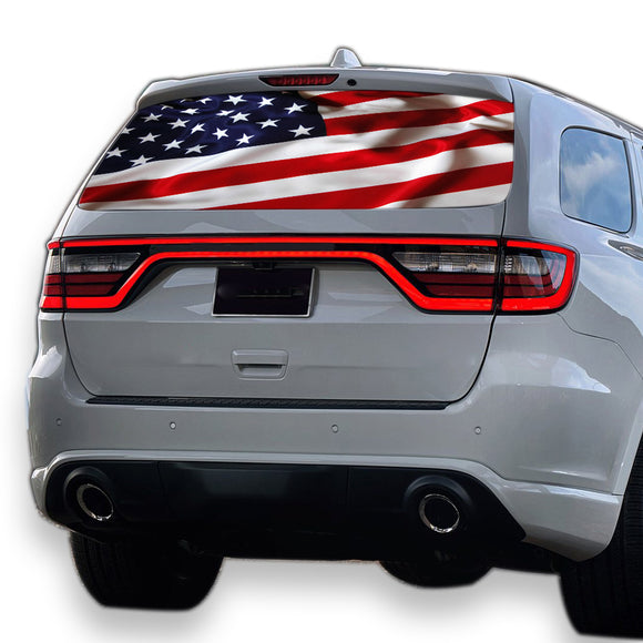 USA Flag Perforated for Dodge Durango decal 2012 - Present