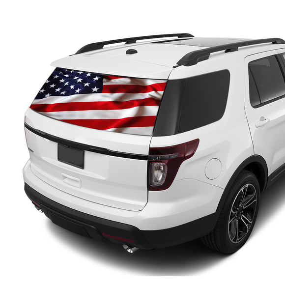 USA Rear Window Perforated For Ford Explorer Decal 2011 - Present