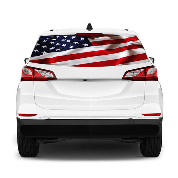USA flag Perforated for Chevrolet Equinox decal 2015 - Present