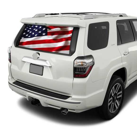 USA Flag Perforated for Toyota 4Runner decal 2009 - Present