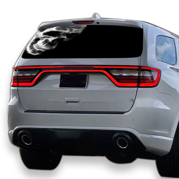 Black Skull Perforated for Dodge Durango decal 2012 - Present
