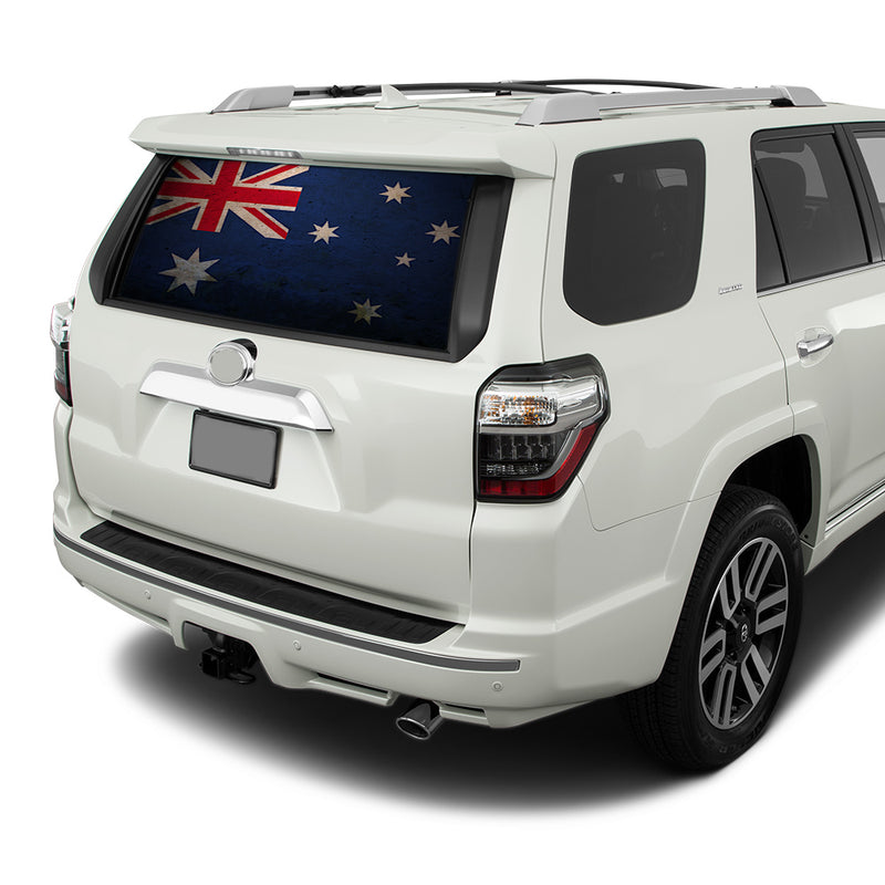Australia Flag Perforated for Toyota 4Runner decal 2009 - Present
