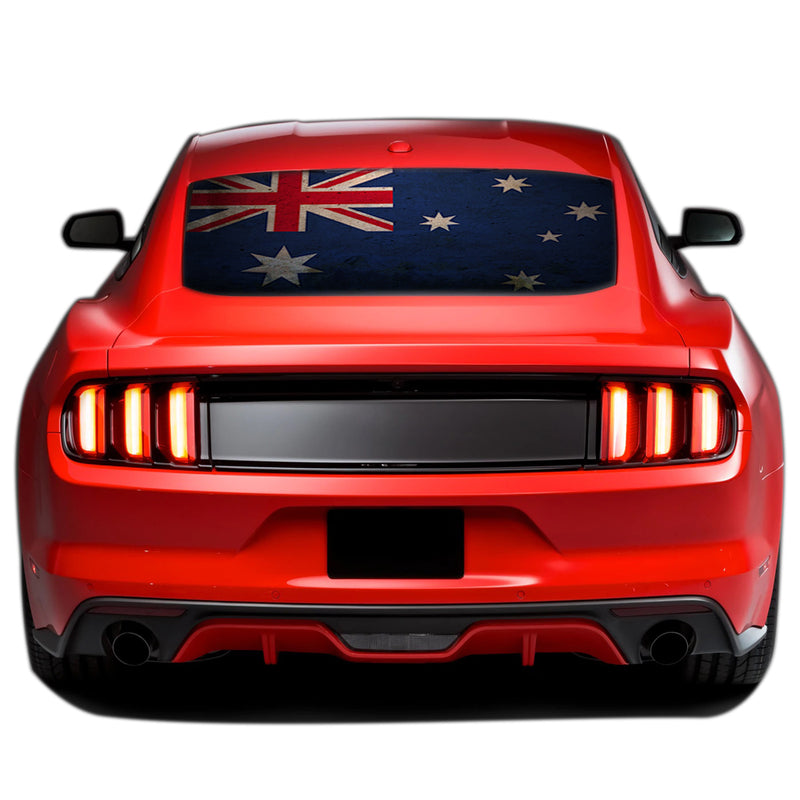 Australia Flag Perforated Sticker for Ford Mustang decal 2015 - Present