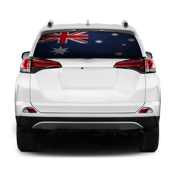 Australia Flag Rear Window Perforated for Toyota RAV4 decal 2013 - Present