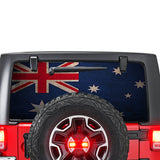 Australia Flag Perforated for Jeep Wrangler JL, JK decal 2007 - Present