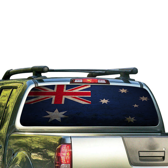 Australia Flag Perforated for Nissan Frontier decal 2004 - Present