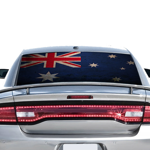 Australia Flag Perforated for Dodge Charger 2011 - Present