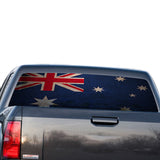 Australia Flag Perforated for GMC Sierra decal 2014 - Present