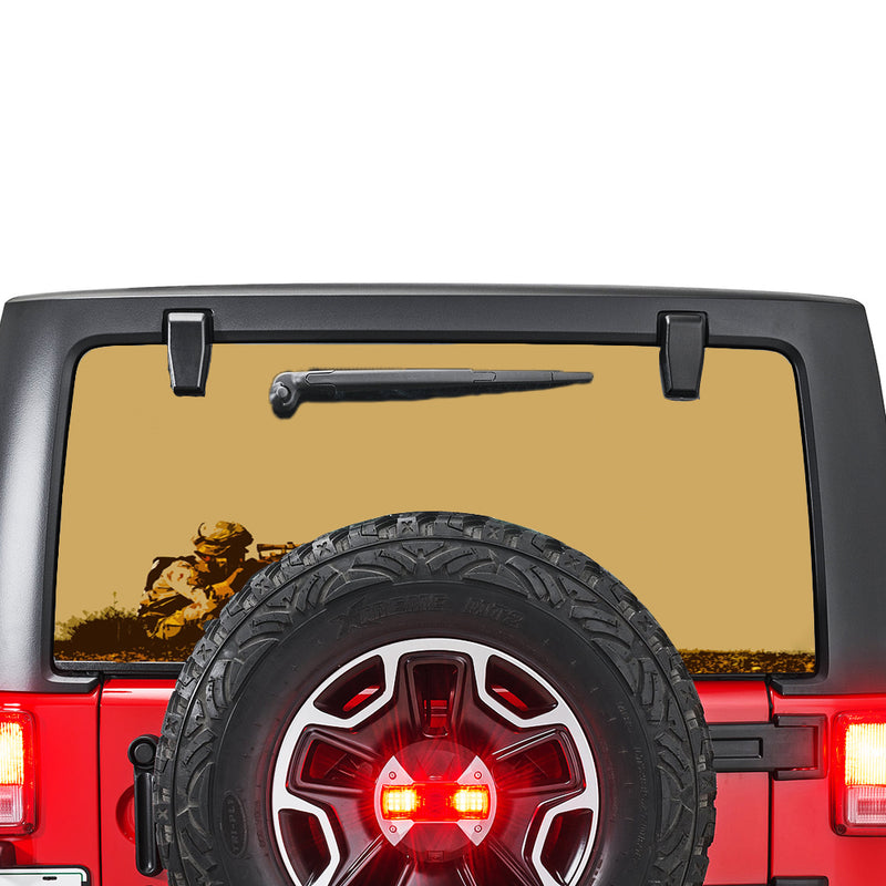 Army Sniper Perforated for Jeep Wrangler JL, JK decal 2007 - Present