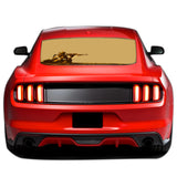 Sniper Soldier Perforated Sticker for Ford Mustang decal 2015 - Present