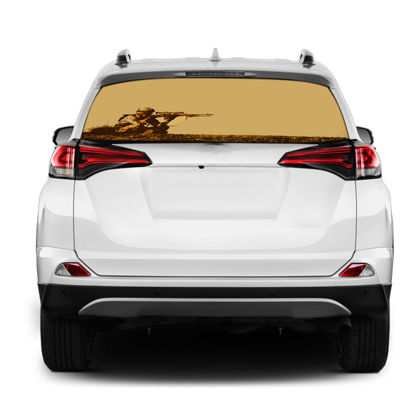 Sniper USA Rear Window Perforated for Toyota RAV4 decal 2013 - Present