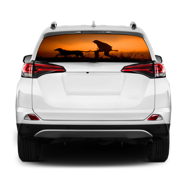 Hunting Rear Window Perforated for Toyota RAV4 decal 2013 - Present