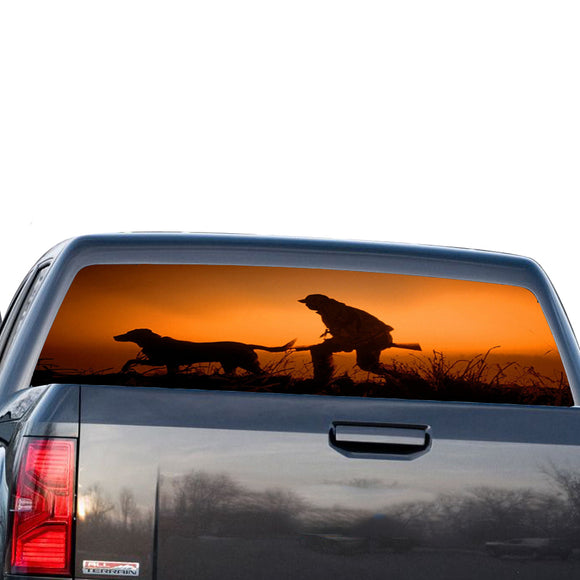 Dog Hunting Perforated for GMC Sierra decal 2014 - Present