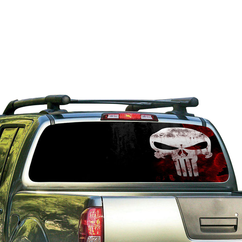 Punisher Perforated for Nissan Frontier decal 2004 - Present
