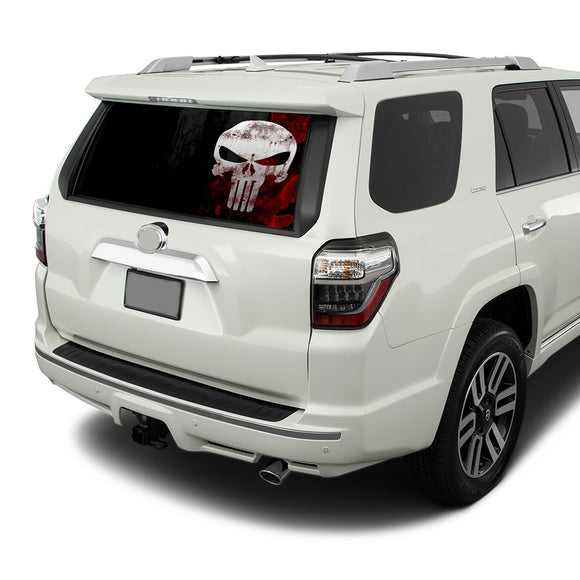 Punisher Skull Perforated for Toyota 4Runner decal 2009 - Present