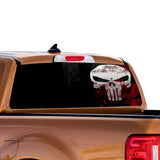 Punisher Skull Perforated for Ford Ranger decal 2010 - Present